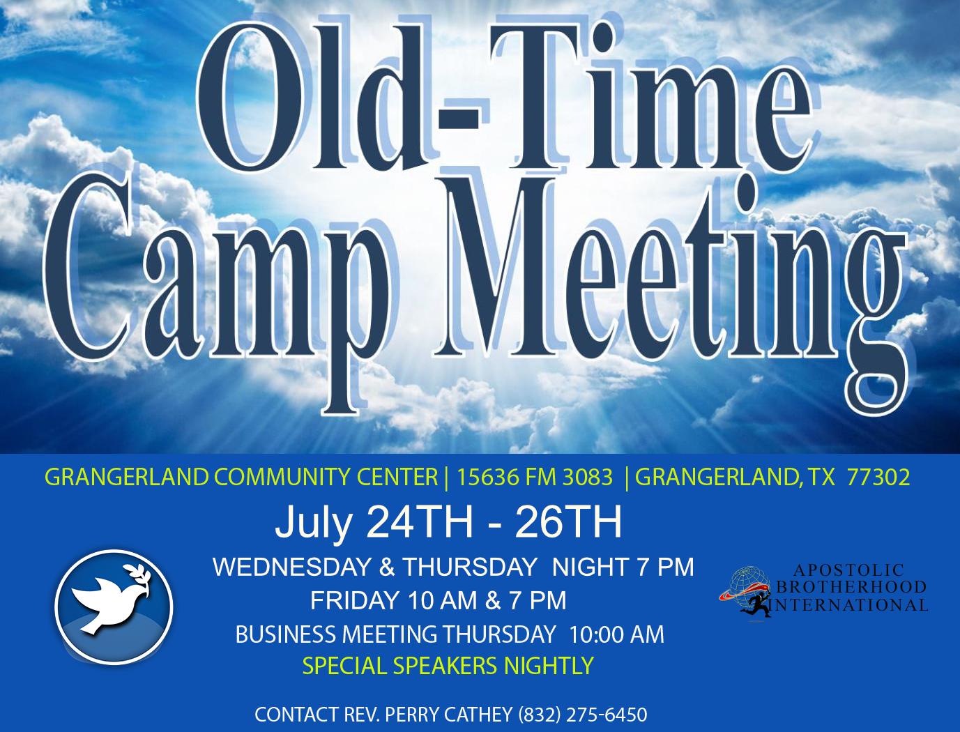 2019 Camp Meeting